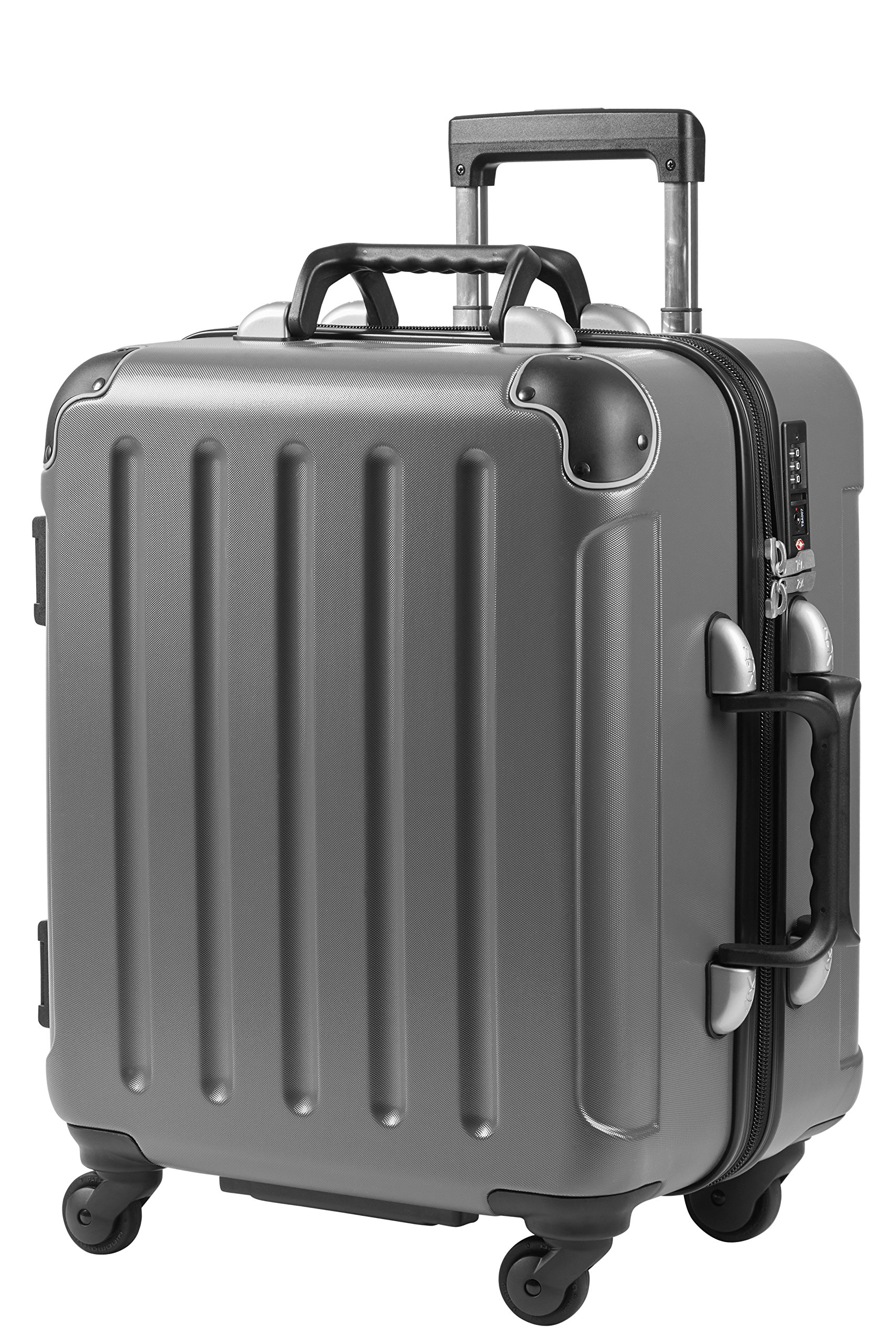 VinGardeValise Petite   Wine Travel Suitcase   All-purpose Luggage   ( Small Size 22.5'') 8 Bottles (Grey)