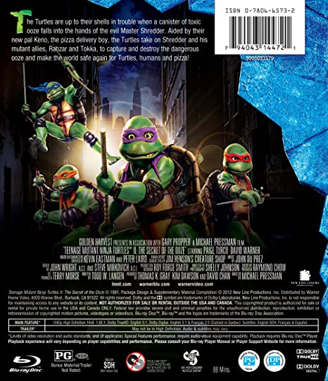 Amazon.com: Teenage Mutant Ninja Turtles II: The Secret of ...