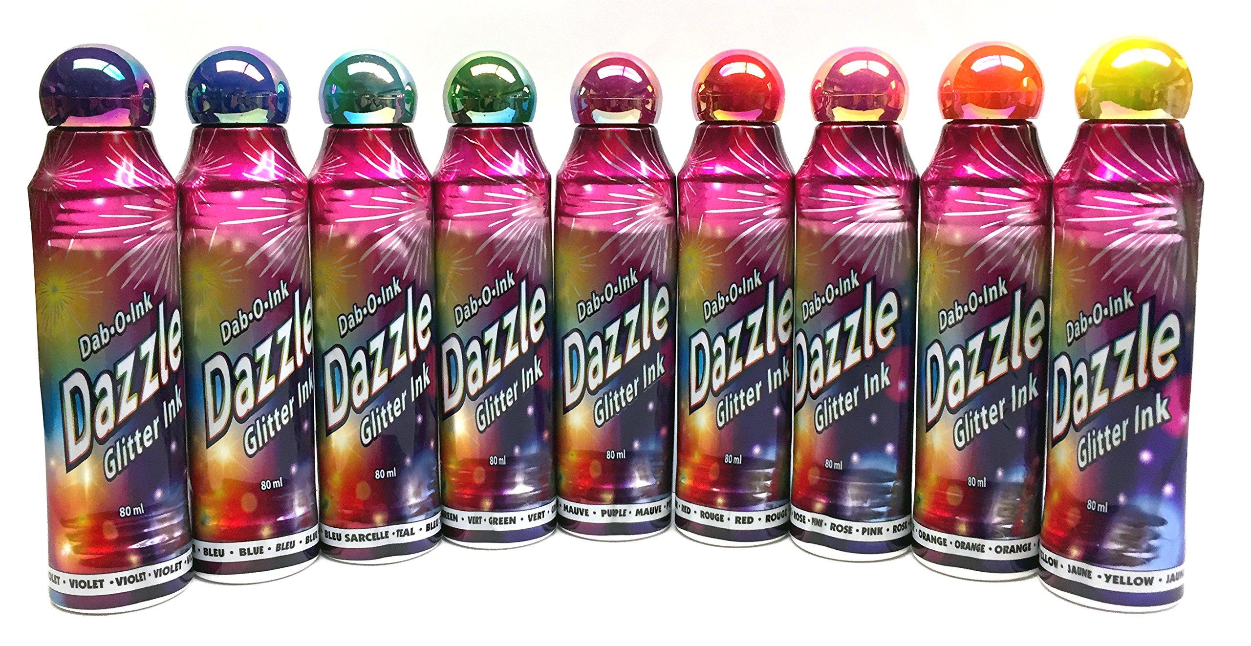 Dazzle Glitter Bingo Dauber Ink 12-Pack - Mixed Colors