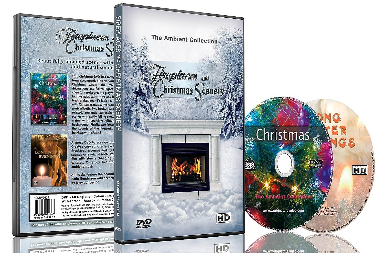 amazon com fireplaces u0026 christmas scenery dvd with fireplace