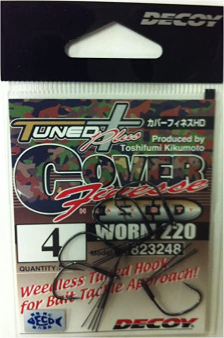 Decoy Worm 220 Cover Finesse HD Worm Hooks Size 1//0 3279