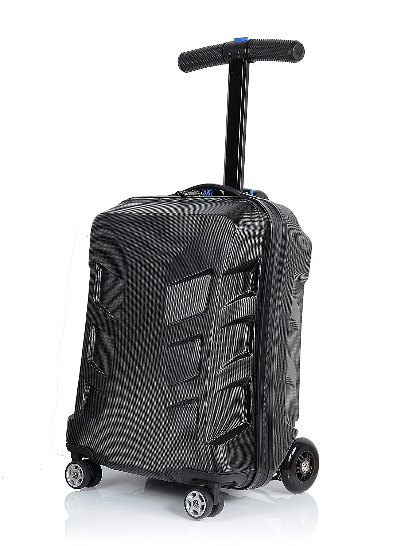 Amazon.com: 20- pulgada patinete plegable equipaje, negro ...