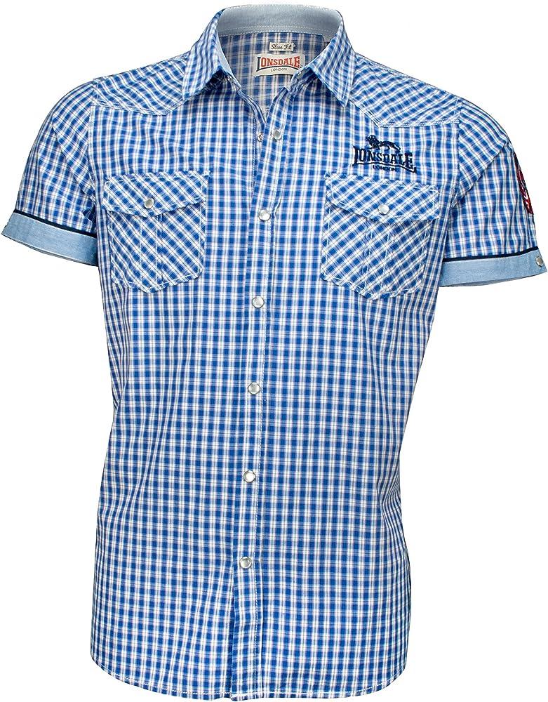 Lonsdale Berny Camisa, Azul, S para Hombre: Amazon.es: Ropa y accesorios