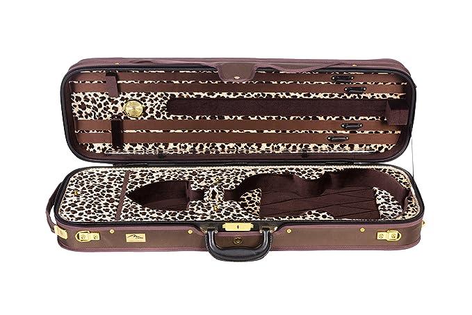 Estuche para violín madera Delux Regent 4/4 M-CASE: Amazon ...
