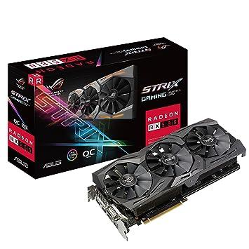 ASUS ROG-STRIX-RX580-8GB-GAMING Graphics Card (Radeon OC, GDDR5  DP/HDMI/DVI-D) - Black