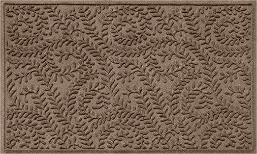 Made in USA Skid Resistant Water-Trapping Bluestone 3 x 5 Durable and Decorative Floor Covering Bungalow Flooring Waterhog Indoor//Outdoor Dogwood Leaf Collection