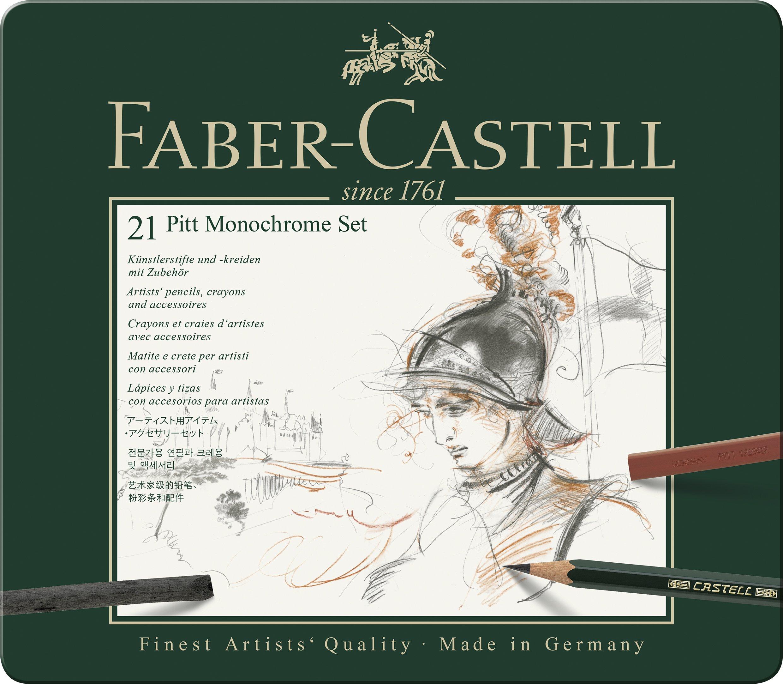 Faber-Castel 21 Piece Pitt Monochrome Tin Set