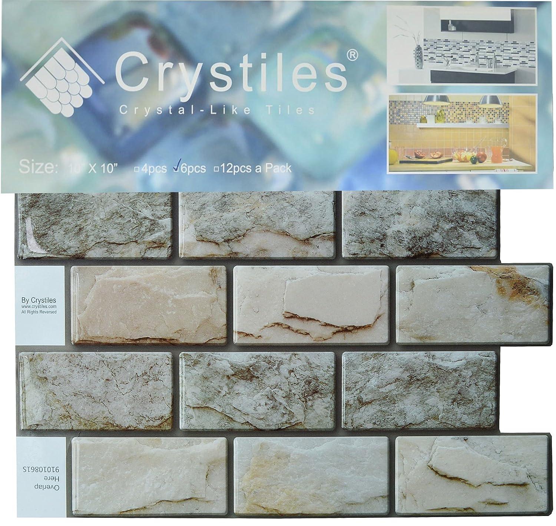 Amazon.com: Crystiles Peel and Stick DIY Backsplash Tile Stick-on ...