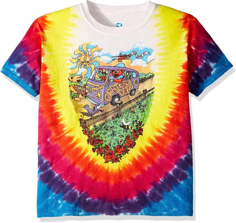Liquid Blue Boys' Big Kids Grateful Dead Summer Tour Bus Short Sleeve T-Shirt