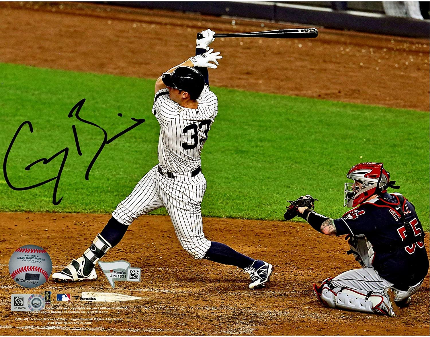 Greg Bird New York Yankees Autographed 8' x 10' 2017 ALDS Game 3 Home Run Photograph - Fanatics Authentic Certified