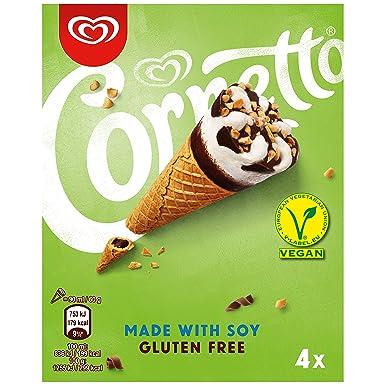 Cornetto Soja sin Gluten - Paquete de 4 x 90 ml: Total - 360 ...