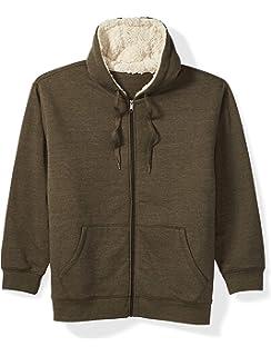 Amazon Essentials Mens Big & Tall Sherpa Lined Full-Zip Hooded Fleece Sweatshirt fit by