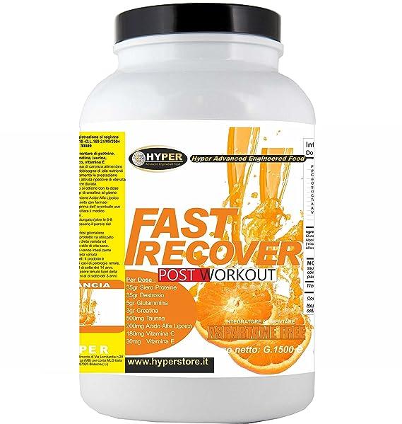 Suplementos de ciclo de recuperación muscular   FAST RECOVER 1500 gr Naranja   POST WORKOUT   Mantenimiento y aumento de la masa muscular   Para deportes ...