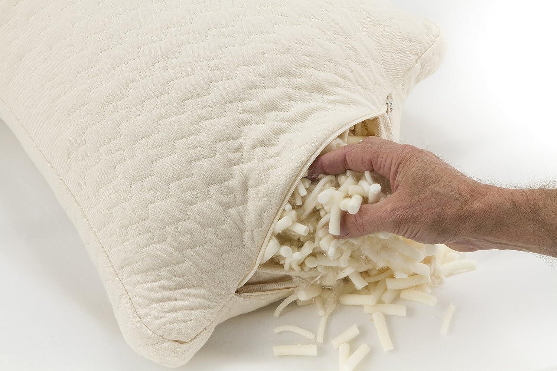 amazon com sleep artisan natural latex and kapok queen pillow for