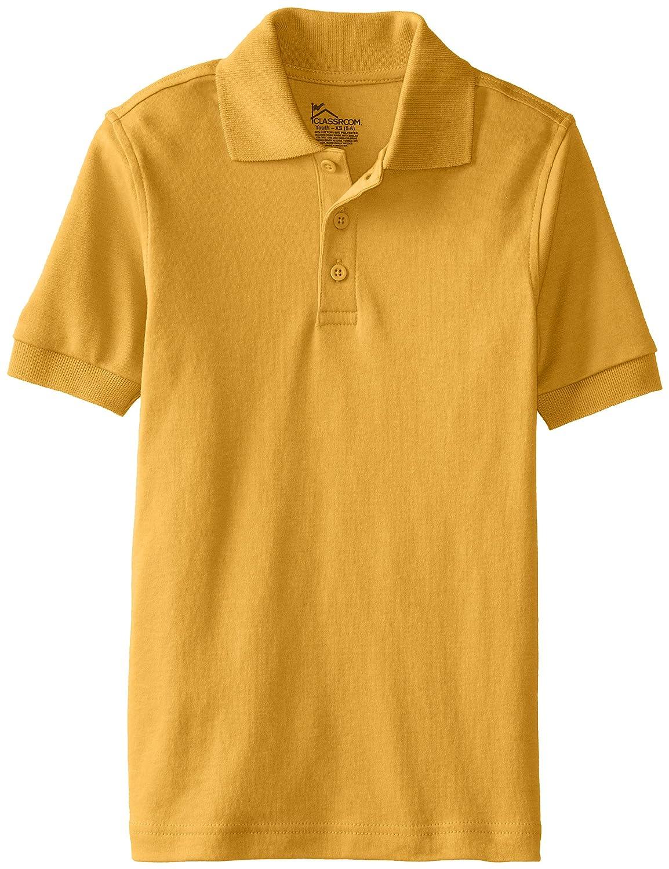 CLASSROOM Boys' Uniform Short Sleeve Interlock Polo 58912