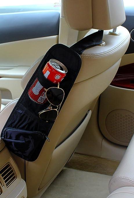 INION BW001 Organizador para asiento de coche, incluye cintas, funda y portavasos, con