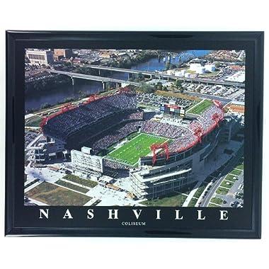 Framed Football Nashville Tennessee Titans Coliseum Aerial Stadium Print Wall Art