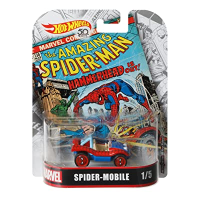 Hot Wheels Spider-Mobile Vehicle, 1:64 Scale: Toys & Games