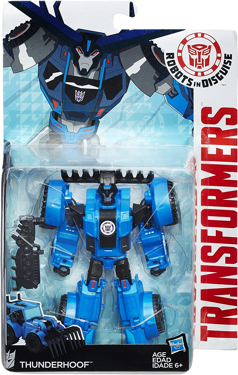 Weaponizers Version Robots in Disguise Warrior Class Thunderhoof Hasbro B5596AS0 Transformers
