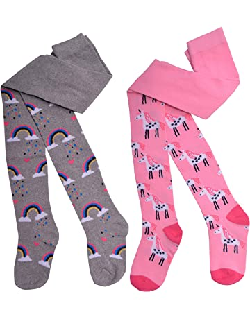 Girls Pink  Tights Diamond Design 12-13 Years