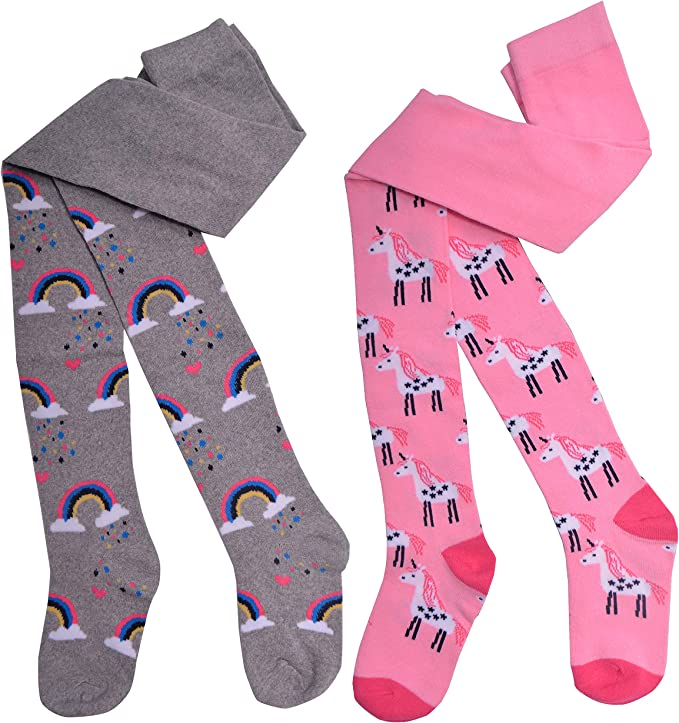 Age 2-3 years 2 pairs of Floral Designs Girls Tights