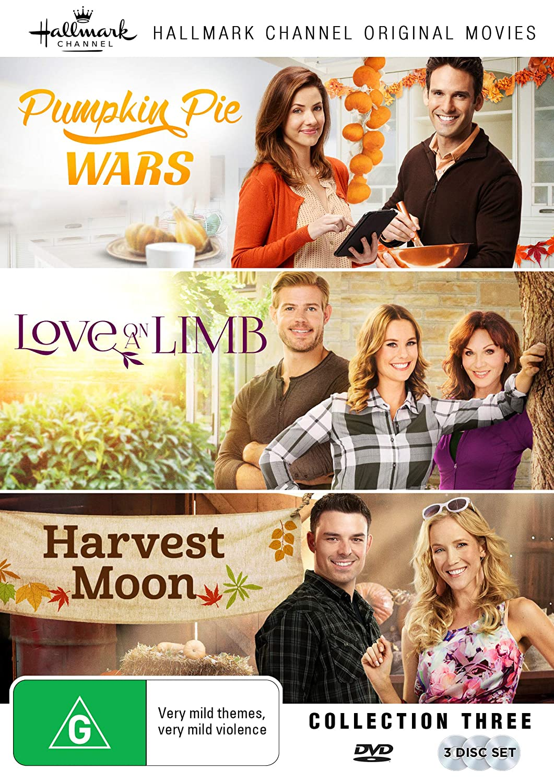 Hallmark 3 Film Collection (Pumpkin Pie Wars/Love on a Limb/Harvest Moon) Julie Gonzalo Eric Aragon Ashley Williams Trevor Donovan