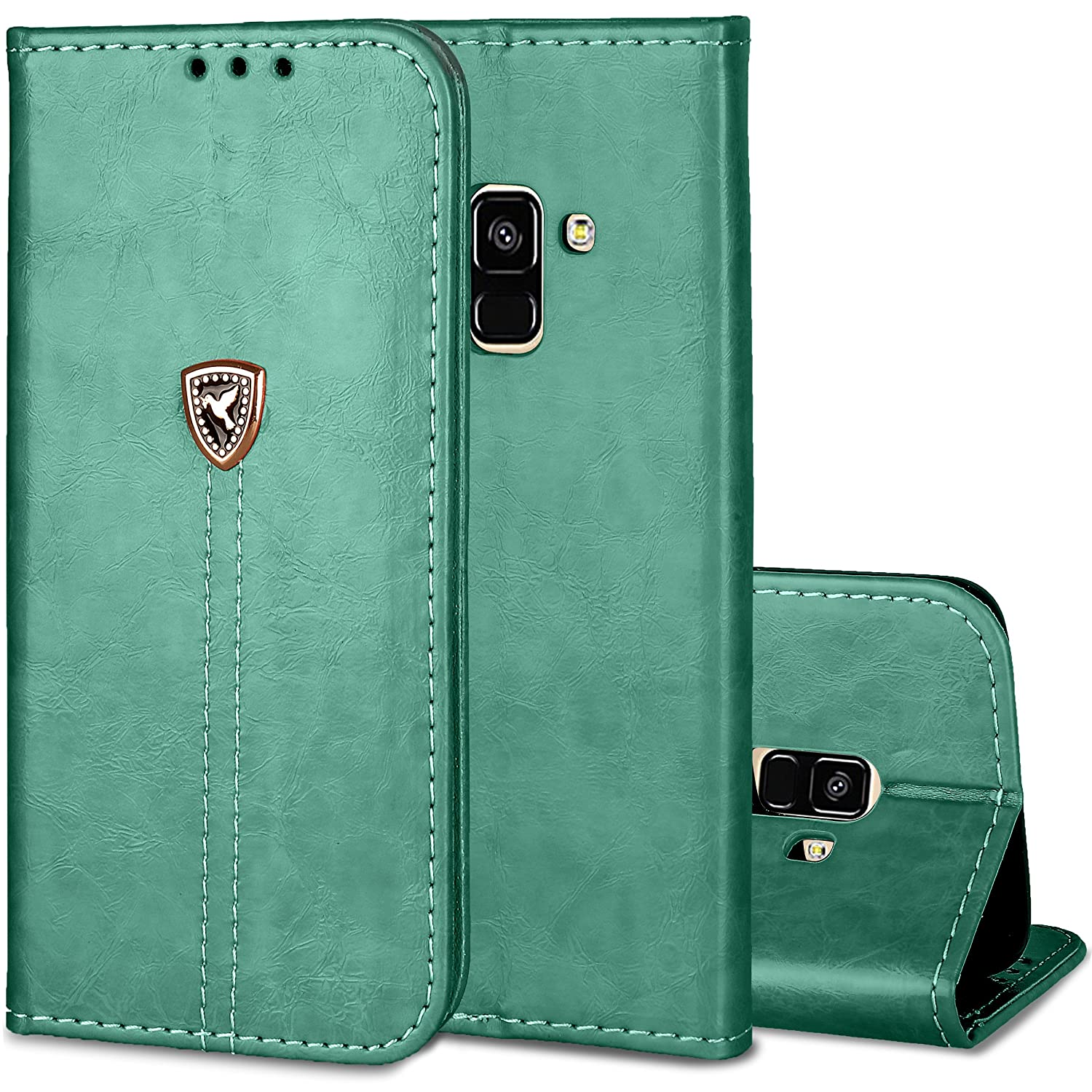 Galaxy S8 Case Ultra Pu Leather Gel Wallet Cover Built Goospery Samsung J2 Canvas Diary Green Credit Card Holder Book Style Front Back Housing Fit Galaxys8 Sm G9500 G950fd