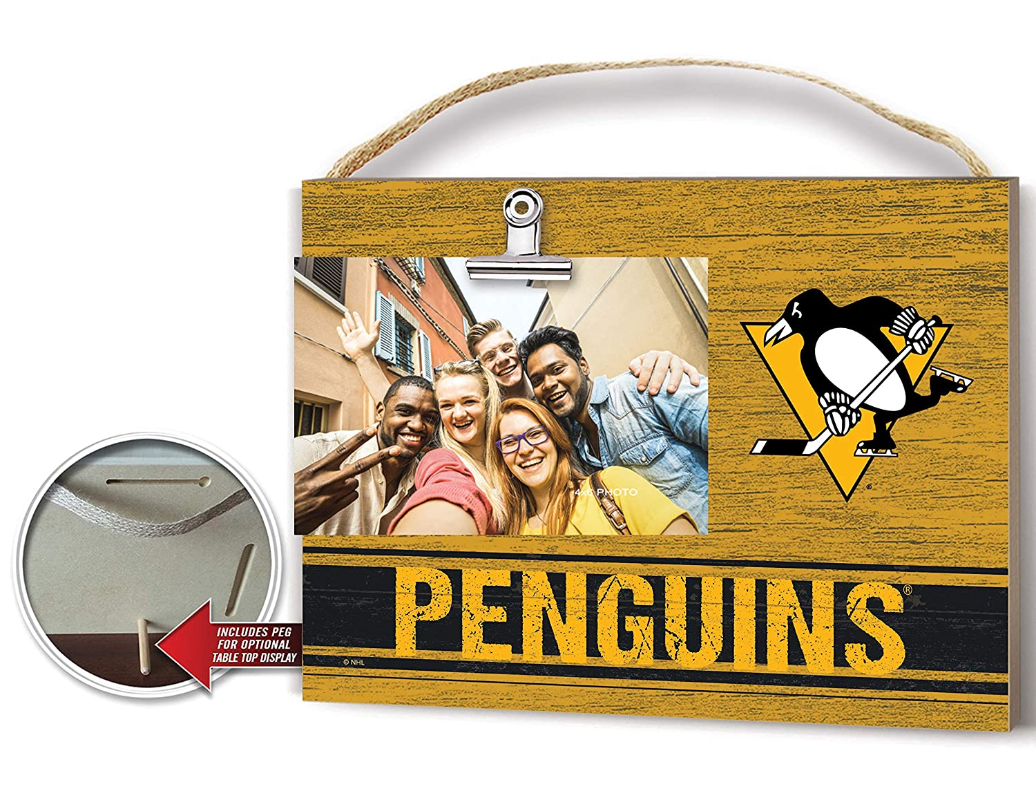 KH Sports Fan Clip It Colored Logo Photo Frame Pittsburgh Penguins