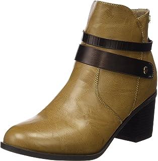 Xti Botin Sra. C.Combinado 46066, Zapatos De Tacón, Mujer, Beige (Taupe), 39 Xti