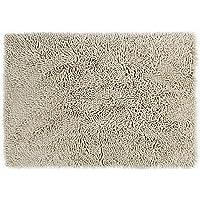 Eurow Microfiber Non Slip Fast Drying Chenille Shag Luxury Bath Mat Light Beige
