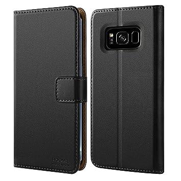 HOOMIL Funda para Samsung Galaxy S8 Plus, Funda de Cuero PU Premium Carcasa para Samsung Galaxy S8 Plus (Negro)