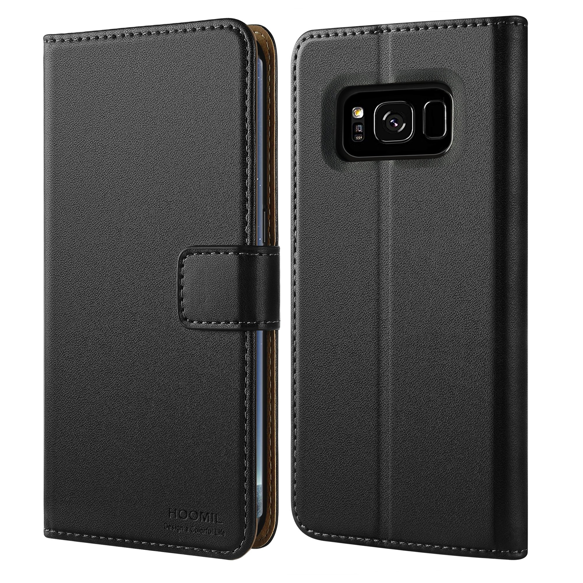 HOOMIL Galaxy S8 Plus Case Premium Leather Case Samsung Galaxy S8 Plus Phone Wallet Case Cover (Black)