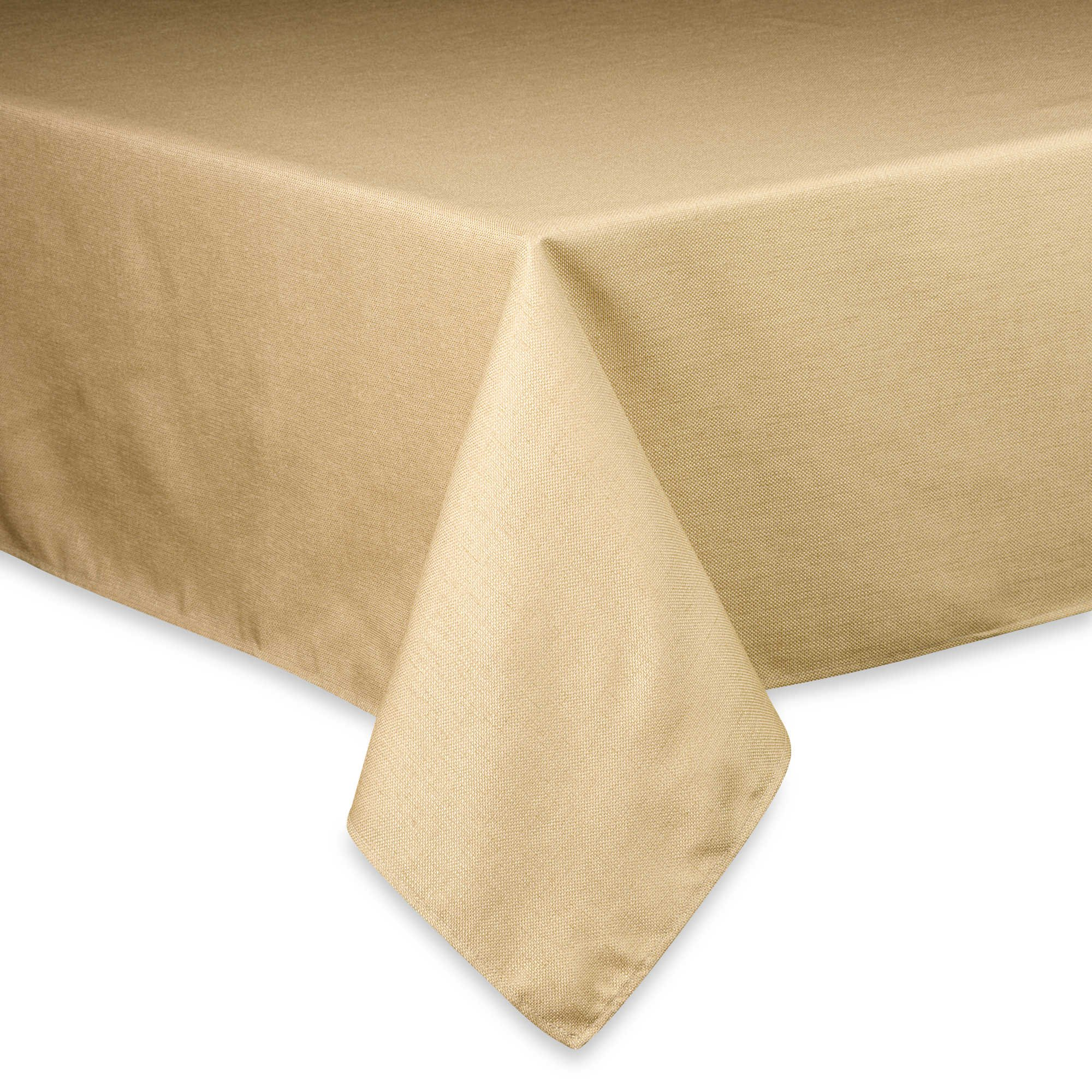 Basketweave Easy Care Tablecloth - (60 x 120 inch, Birch)