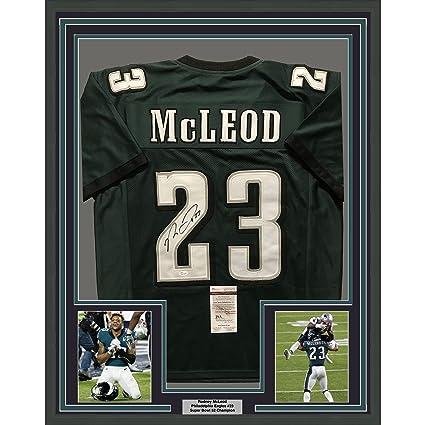 94188da8f Image Unavailable. Image not available for. Color  Framed Autographed Signed  Rodney McLeod Jr. 33x42 Philadelphia Eagles Green Football Jersey ...