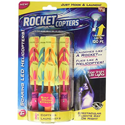 Rocket Copters - The Amazing Slingshot LED Helicopters - As Seen on TV: Toys & Games
