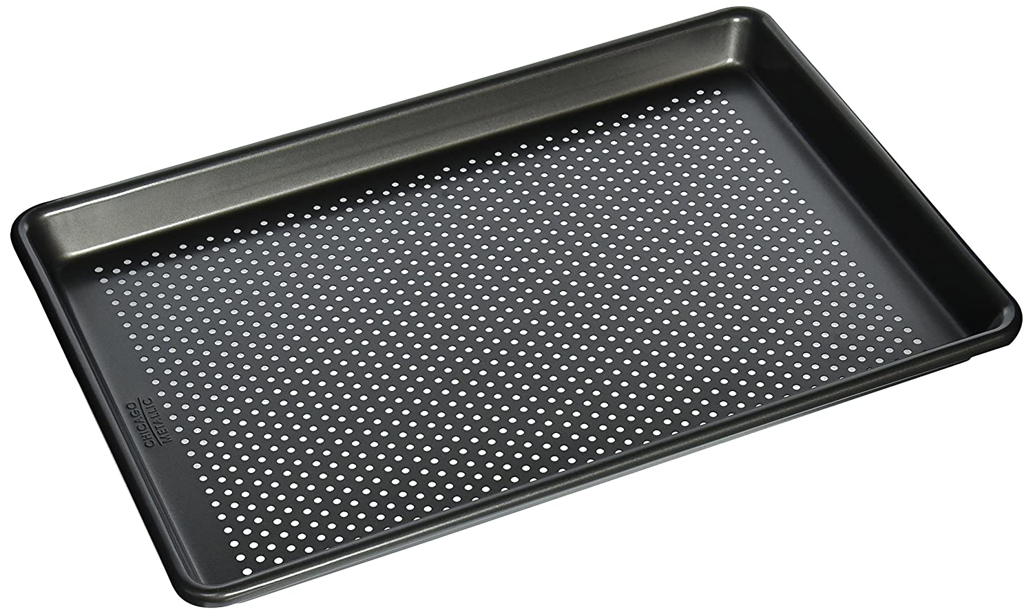 Chicago Metallic Professional Perforated Cookie/Jelly-Roll Pan, 14.75-Inch-by-9.75-Inch 26708
