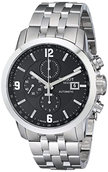 6455159fde0 Tissot Men's T0554271105700 PRC 200 Stainless Steel Automatic Watch: Tissot:  Amazon.ca: Watches