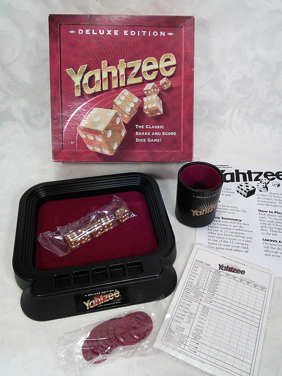 YAHTZEE 10 x Original Spare Replacement Score Sheets Pad 1997 MB Games