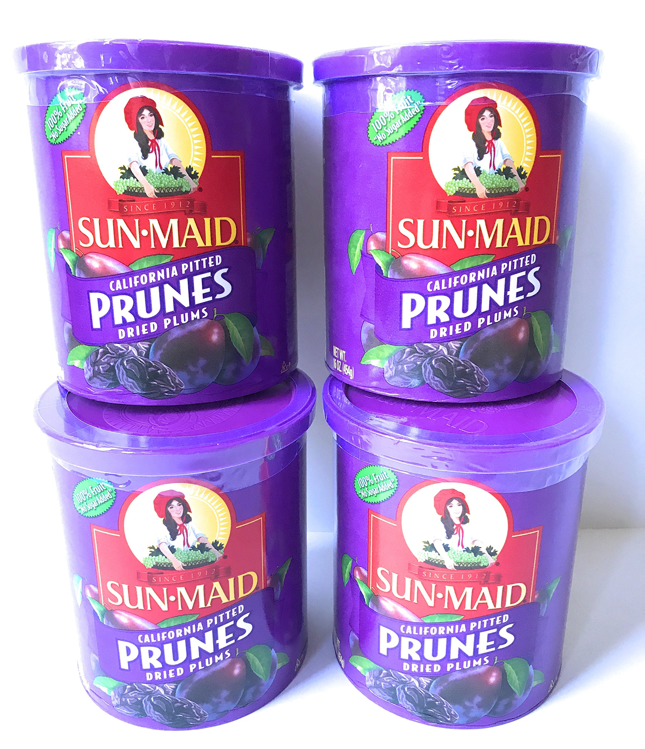Sun Maid Pitted Prunes - 4 16 oz Canisters of Delicious Dried Prunes - GREAT VALUE by SunMaid (Image #4)