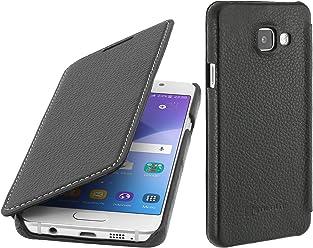 StilGut Book Type Case senza clip, custodia in vera pelle per Samsung Galaxy A3 (2016), nero