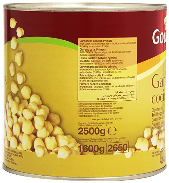 Gourmet - Garbanzos Cocidos - 2.5 kg: Amazon.es: Alimentación y ...