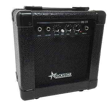 Amplificador combo para guitarra electrica ROCKSTAR BC08 con 10W ...
