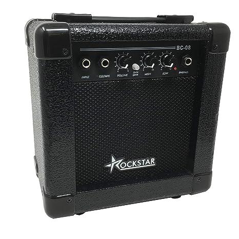 Amplificador combo para guitarra electrica ROCKSTAR BC08 con 10W de rockmusic