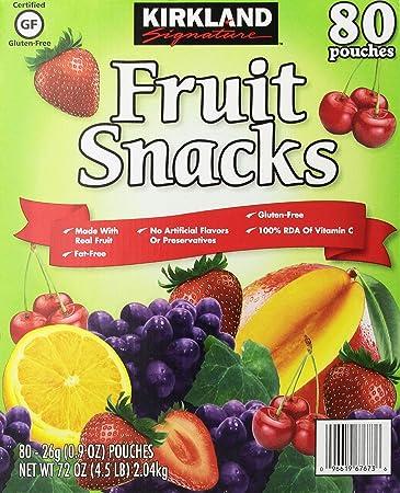 Kirkland Signature Fruit Snacks Pouches, 80 Count