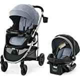 Graco Modes Pramette Travel System | Includes Baby Stroller with True Bassinet Mode, Reversible Seat, One Hand Fold, Extra St