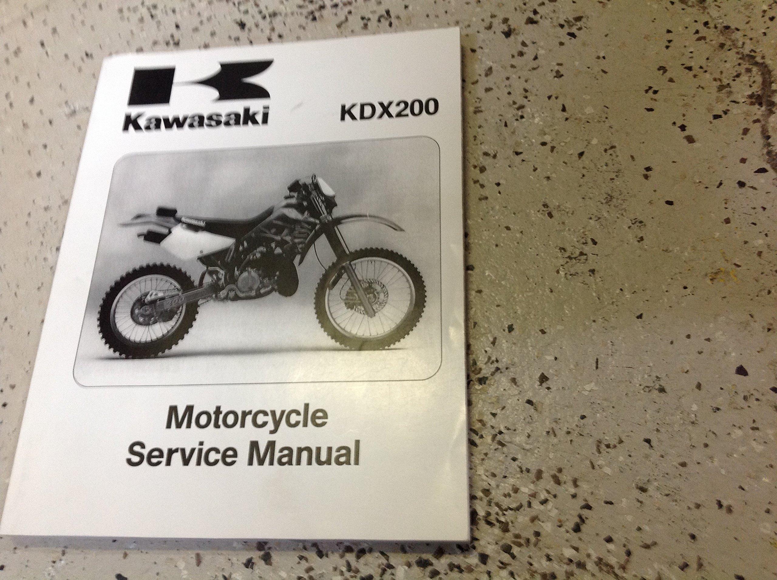 1995 1996 1997 2000 2001 2002 Kawasaki KDX200 Motorcycle Service Repair  Manual Paperback – 2002