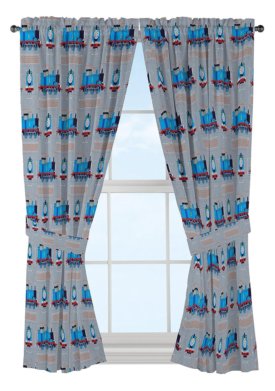 "Jay Franco Thomas The Tank Engine Tech 63"" Decorative Curtain/Drapes 4-Piece Set (2 Panels, 2 Tiebacks)"