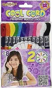 The Janlynn Corporation Cool Cord Friendship Bracelet Stitch Kit, 12-Pack