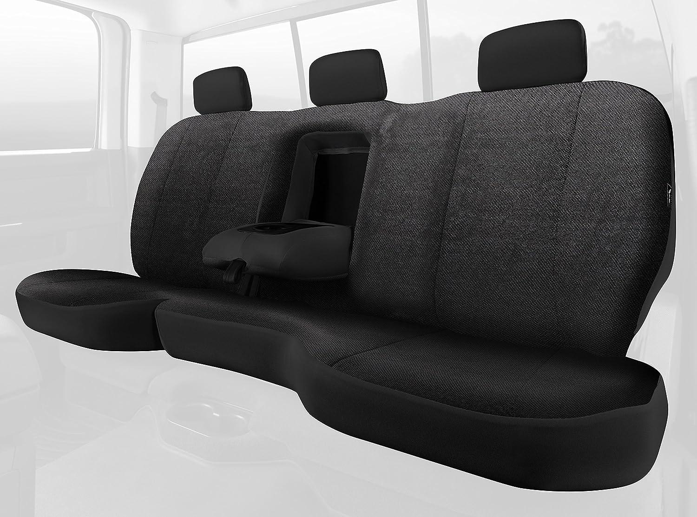 Fia TRS42-41 BLACK TRS40 Solid Wrangler Solid Black Seat Cover Rear Split Seat 40//60//Saddle Blanket
