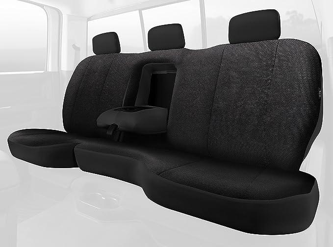 Fia TRS42-86 BLACK TRS40 Solid Wrangler Solid Black Seat Cover Rear Split Seat 60//40//Saddle Blanket